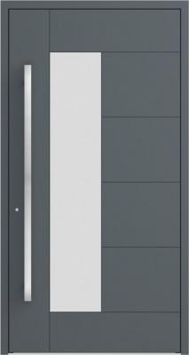 Drzwi zewnętrzne aluminiowe AB6 Antracyt