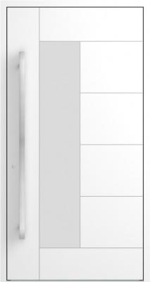 Drzwi zewnętrzne aluminiowe AB6 Biały