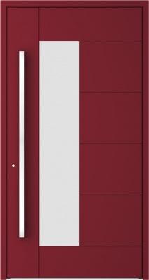 Drzwi zewnętrzne aluminiowe AB6 Bordo