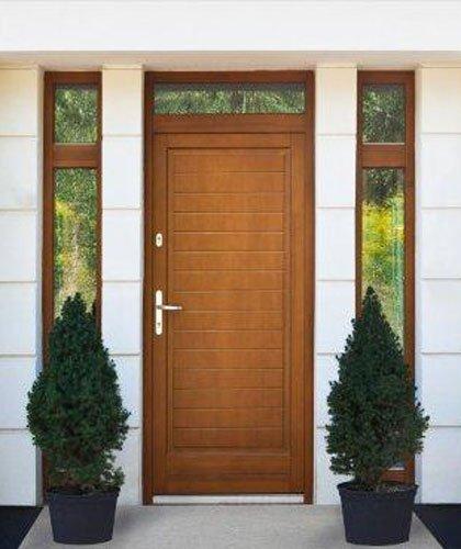 drzwi zewnętrzne drewniane realizacja