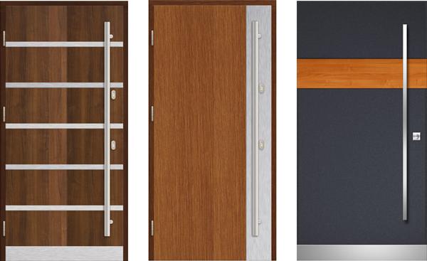 drzwi zewnętrzne drewniane