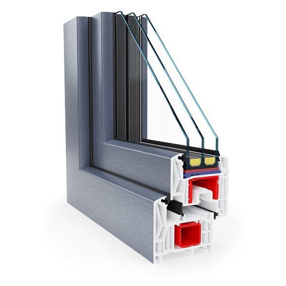 okna Rehau Synego Antracyt