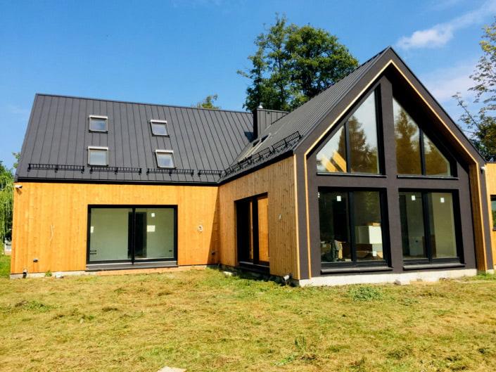 okna drewniano aluminiowe realizacja